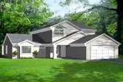 European Style House Plan - 3 Beds 2.5 Baths 2144 Sq/Ft Plan #1-1435 Exterior - Front Elevation