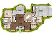 Mediterranean Style House Plan - 3 Beds 3 Baths 2504 Sq/Ft Plan #80-163 Floor Plan - Main Floor Plan