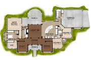 Mediterranean Style House Plan - 3 Beds 3 Baths 2504 Sq/Ft Plan #80-163 Floor Plan - Main Floor Plan