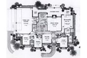 Traditional Style House Plan - 3 Beds 2.5 Baths 2606 Sq/Ft Plan #310-853 Floor Plan - Main Floor