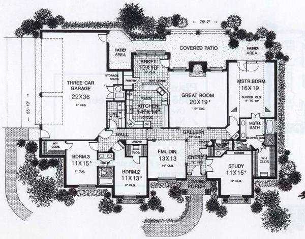 Traditional Floor Plan - Main Floor Plan #310-853