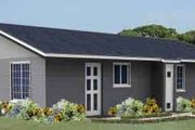 Contemporary Style House Plan - 3 Beds 2 Baths 1123 Sq/Ft Plan #1-986 Exterior - Front Elevation