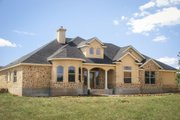 Mediterranean Style House Plan - 4 Beds 2 Baths 2014 Sq/Ft Plan #80-142 Exterior - Front Elevation
