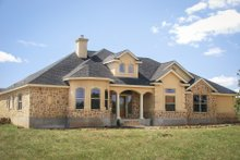 Dream House Plan - Mediterranean Exterior - Front Elevation Plan #80-142