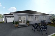 Ranch Style House Plan - 3 Beds 2 Baths 1493 Sq/Ft Plan #1060-39 Exterior - Rear Elevation