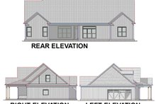 Country Exterior - Rear Elevation Plan #63-270