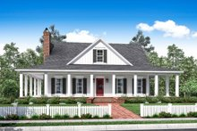 Country Exterior - Front Elevation Plan #430-150