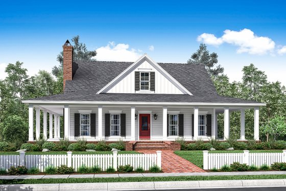 Architectural House Design - Country Exterior - Front Elevation Plan #430-150