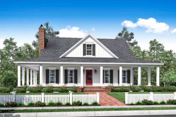 Wrap Around Porch House Plans Architectural Designs