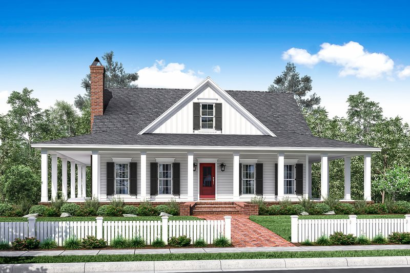 Dream House Plan - Country Exterior - Front Elevation Plan #430-150
