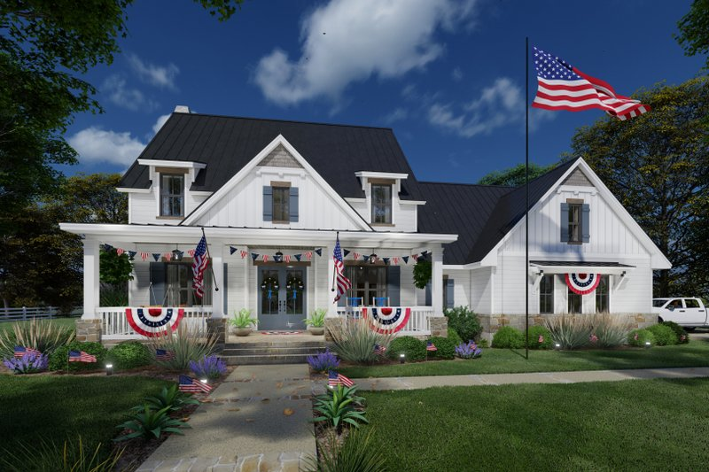 Farmhouse Style House Plan - 3 Beds 2.5 Baths 2526 Sq/Ft Plan #120-272 Exterior - Other Elevation