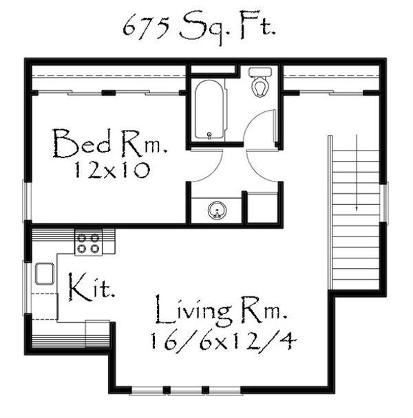 Country Floor Plan - Upper Floor Plan Plan #509-39