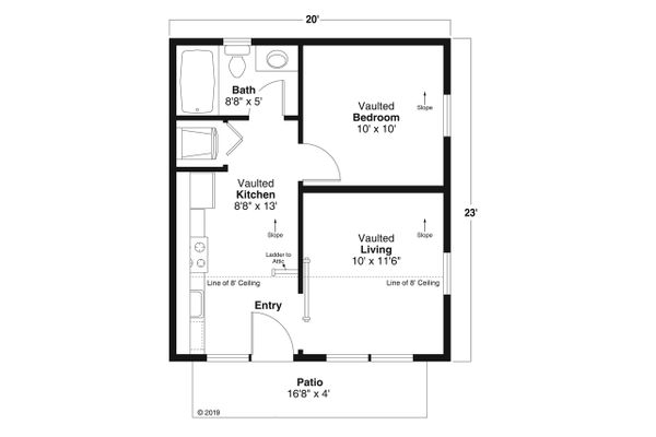 Modern Floor Plan - Main Floor Plan #124-1199