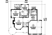 Victorian Style House Plan - 3 Beds 1 Baths 2282 Sq/Ft Plan #25-4759 Floor Plan - Main Floor Plan