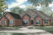 European Style House Plan - 4 Beds 3.5 Baths 3624 Sq/Ft Plan #17-2297 Exterior - Front Elevation