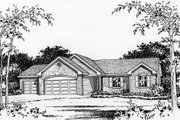 Ranch Style House Plan - 3 Beds 2.5 Baths 1568 Sq/Ft Plan #22-467 Exterior - Other Elevation