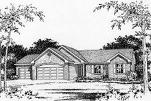 House Plan Design - Ranch Exterior - Other Elevation Plan #22-467