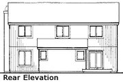 Modern Style House Plan - 2 Beds 2.5 Baths 1701 Sq/Ft Plan #320-430 Exterior - Rear Elevation