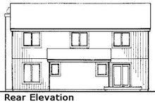 Home Plan - Modern Exterior - Rear Elevation Plan #320-430