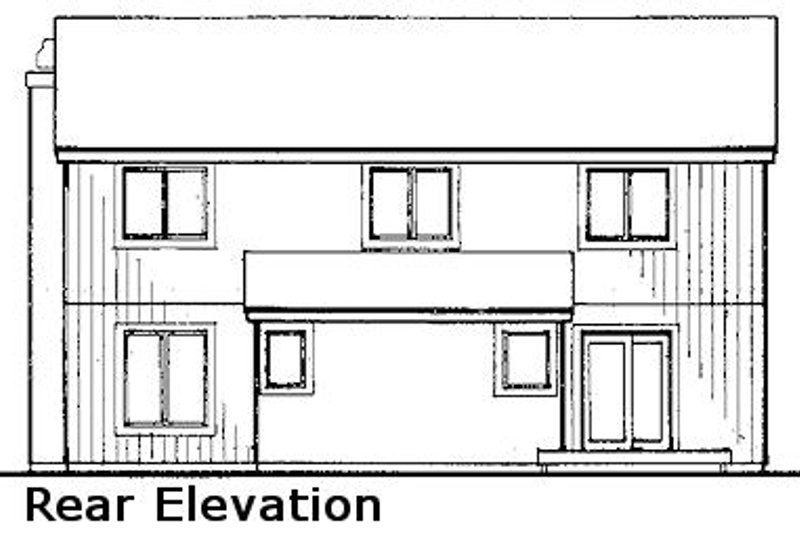 Modern Exterior - Rear Elevation Plan #320-430 - Houseplans.com