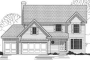 Traditional Style House Plan - 4 Beds 3 Baths 2402 Sq/Ft Plan #67-813 Exterior - Front Elevation