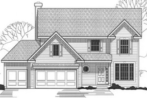 Traditional Exterior - Front Elevation Plan #67-813