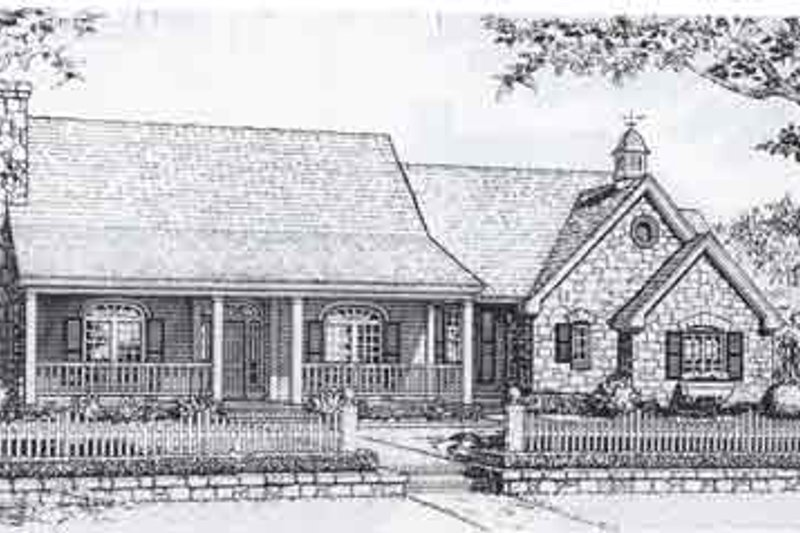 Traditional Style House Plan - 3 Beds 2.5 Baths 2144 Sq/Ft Plan #310-929 Exterior - Front Elevation