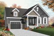 Craftsman Style House Plan - 1 Beds 1 Baths 1054 Sq/Ft Plan #23-2386 Exterior - Front Elevation