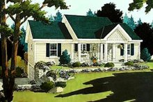 Cottage Exterior - Front Elevation Plan #46-213