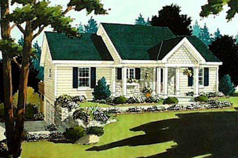Cottage Exterior - Front Elevation Plan #46-213