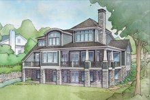 Cottage Exterior - Rear Elevation Plan #928-319
