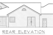 Country Style House Plan - 2 Beds 2 Baths 1515 Sq/Ft Plan #112-161 Exterior - Rear Elevation