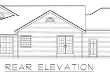 Country Exterior - Rear Elevation Plan #112-161