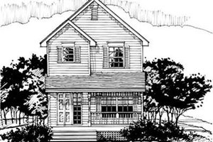 Country Exterior - Front Elevation Plan #50-236