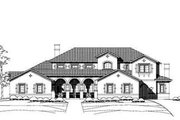 Mediterranean Style House Plan - 4 Beds 4.5 Baths 6050 Sq/Ft Plan #411-122 Exterior - Front Elevation