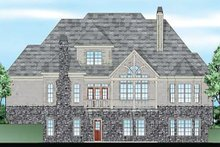 European Exterior - Rear Elevation Plan #927-31