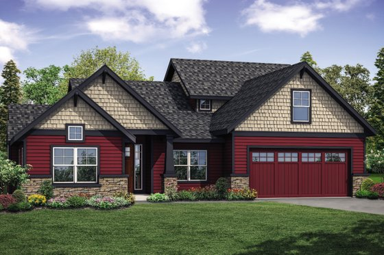 Traditional Exterior - Front Elevation Plan #124-1126