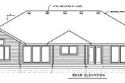 Traditional Style House Plan - 3 Beds 2 Baths 2255 Sq/Ft Plan #89-101 Exterior - Rear Elevation