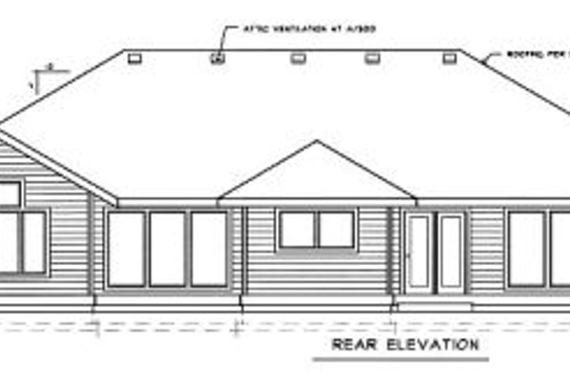 Traditional Exterior - Rear Elevation Plan #89-101 - Houseplans.com