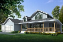 Home Plan - Country Exterior - Front Elevation Plan #112-161