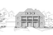 Colonial Style House Plan - 5 Beds 3.5 Baths 4357 Sq/Ft Plan #411-380 Exterior - Front Elevation