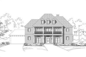 Colonial Exterior - Front Elevation Plan #411-380