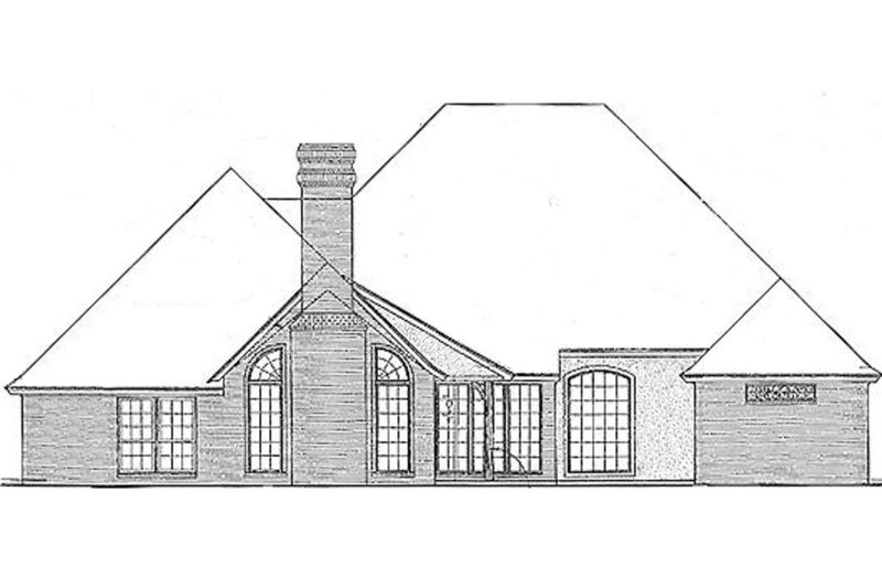European Exterior - Rear Elevation Plan #310-847 - Houseplans.com