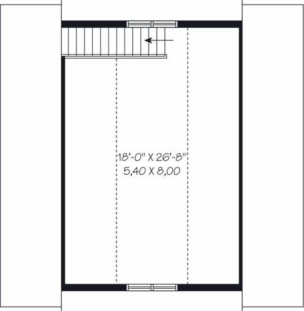 Traditional Floor Plan - Upper Floor Plan Plan #23-765