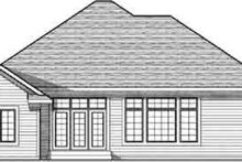 Dream House Plan - Traditional Exterior - Rear Elevation Plan #70-832