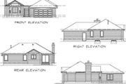 Traditional Style House Plan - 3 Beds 2 Baths 1253 Sq/Ft Plan #47-370 Exterior - Rear Elevation