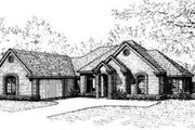 European Style House Plan - 4 Beds 3 Baths 2495 Sq/Ft Plan #310-117 Exterior - Front Elevation