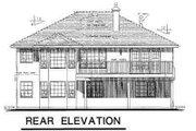 European Style House Plan - 4 Beds 2 Baths 1986 Sq/Ft Plan #18-228 Exterior - Rear Elevation