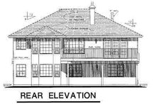 European Exterior - Rear Elevation Plan #18-228