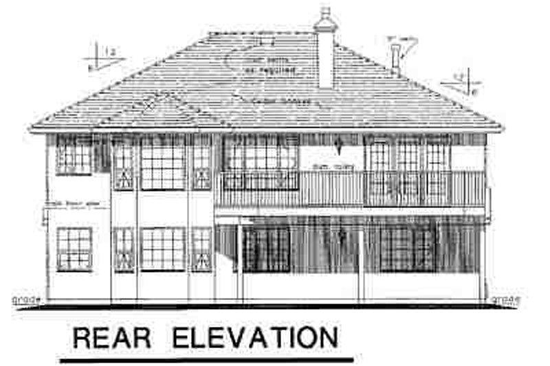 European Exterior - Rear Elevation Plan #18-228 - Houseplans.com